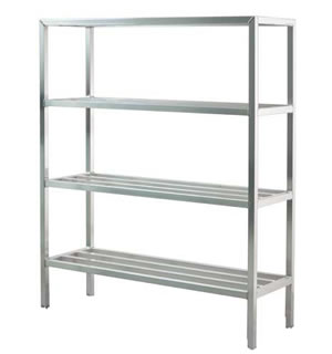 Welded Tubular Mobile Shelf