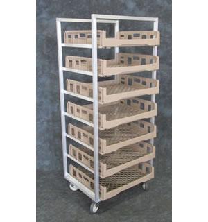 Aluminum Produce Crisping Cart