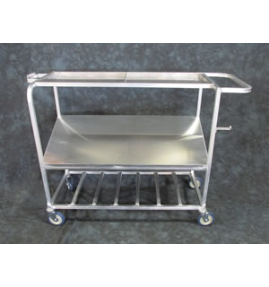 Aluminum Rotisserie Chicken Load Cart