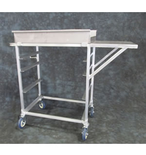 Aluminum Rotisserie Chicken Unload Cart