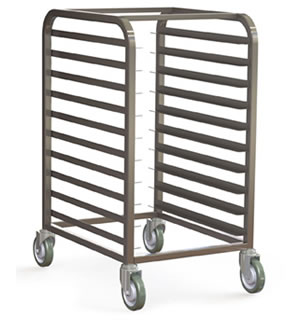 Half Size Stainless Steel Pan Rack