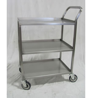 Stainless Solid Shelf Utility Cart